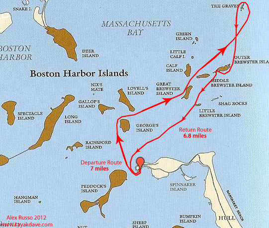 Trip Report Boston Harbor Outer Islands Kayak Dave S