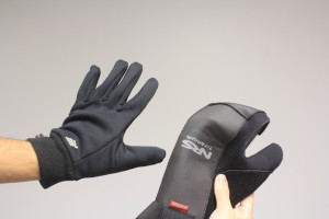 Buy one size larger to accommodate fleece glove liners