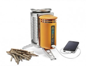 The Biolite Camp Stove would have been perfect for keeping our small electronics charged...