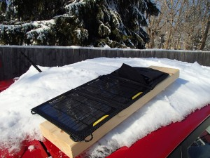 Charging the Guide 10 Plus via the Nomad 7 Solar Panel after the blizard!