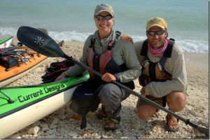 Amy and Dave Freeman at Key West, FL (Photo from The Wilderness Classroom)