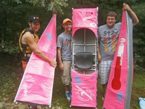 Duct Tape Kayak Team at the 2012 Great River Race (Photo by Emily Files, Boston Globe)