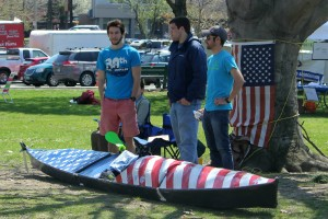 The Duct Tape Kayak Team at the 2013 Run of the Charles