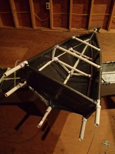 Duct Tape Kayak New Stern Hull