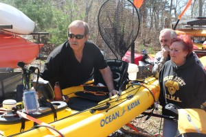 Charlie Foriter provides his insight at the Kayak Fishing Clinic