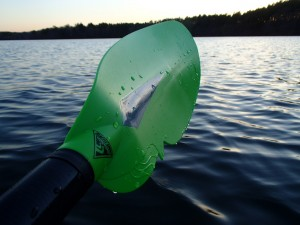The Sea Shisper has a great blade shape and comes in high-visibility green with reflective accent.