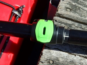 Close up of the cam-lock ferrule system