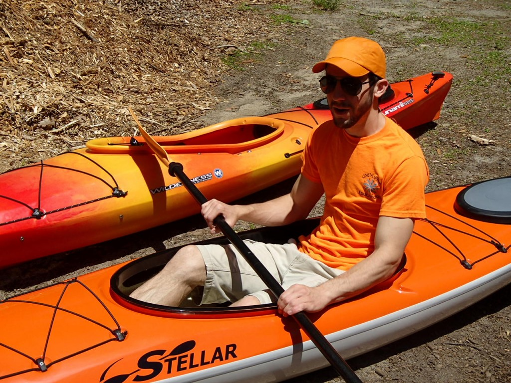 High Visibility Kayaker