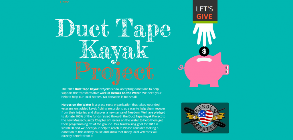 Preview of the Duct Tape Kayak website