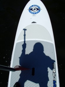 Silhouette on SUP