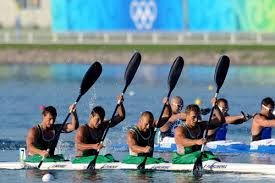 Belarus men's K4 team won gold in 1000m in 2:55.714 at the 2008 Beijing Olympics (Photo credit: Xinhua)