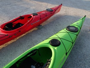 Wilderness System Focus 145 (green) and Focus 150 (red)