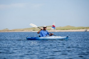 Edgartown, Massachusetts, Aug. 28, 2010. The President goes kayaking. What's missing from this photo?